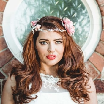 Vintage Pink and Silver Rose Crown
