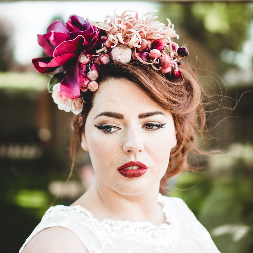 Cherry and Berry Vintage Floral Headdress