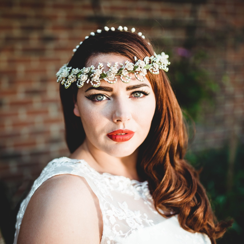 Vintage Double Wax Flower Headdress