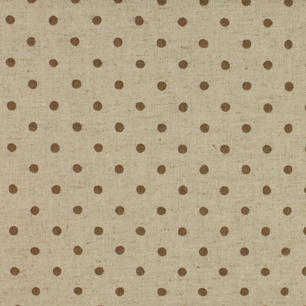 Sevenberry - Linen Mix - Brown Spot on Beige