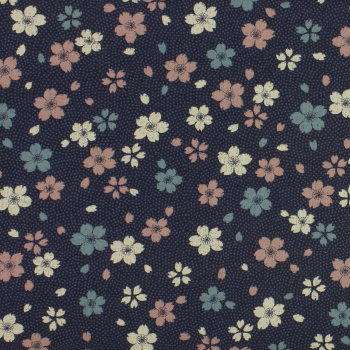 Sevenberry - Vintage Flowers on Navy (£12pm)