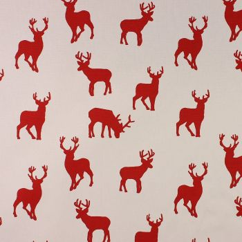 Christmas Stag Red