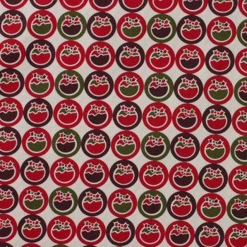 Fabric Freedom - Christmas Characters - Christmas Puddings (£10pm)