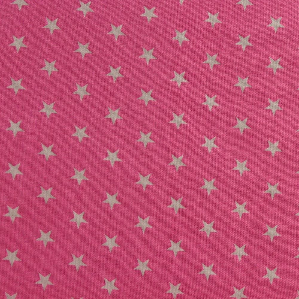 White Stars on Candy Pink