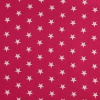 White Stars on Cerise (148cm wide fabric) (£9pm)