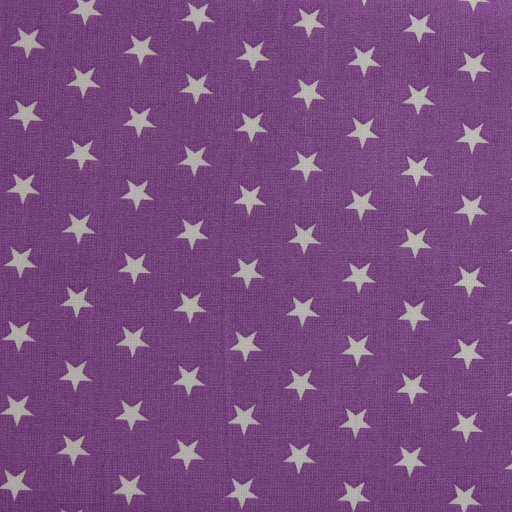 White Stars on Violet (148cm wide fabric)