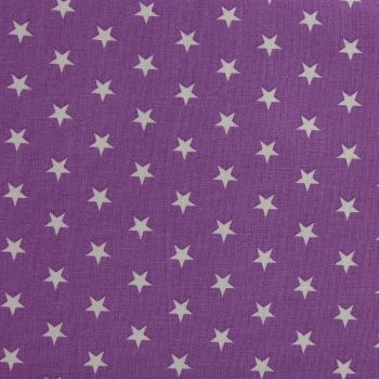White Stars on Violet (148cm wide fabric) (£9pm)