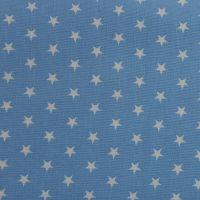 White Stars on Sky Blue (148cm wide fabric) (£9pm)