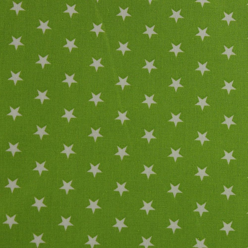 White Stars on Lime (148cm wide fabric)