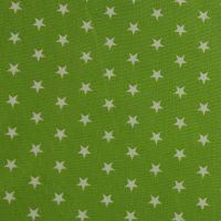White Stars on Lime (148cm wide fabric) (£9pm)