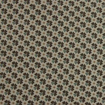 Julia - Small Flower - Naturals (150cm wide fabric) (£11pm)