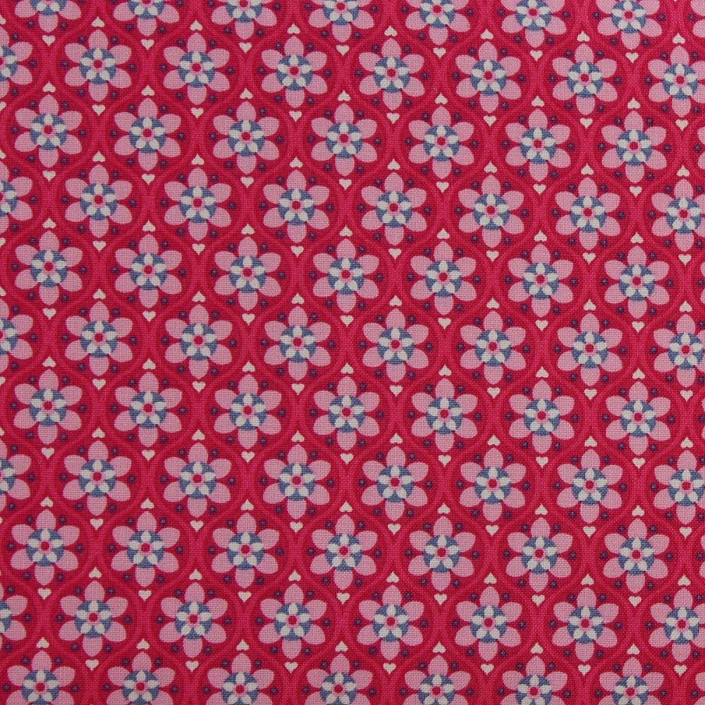 Julia - Solid Flower - Cerise (150cm wide fabric)