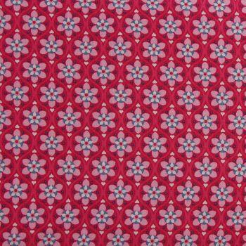 Julia - Solid Flower - Cerise (150cm wide fabric) (£11pm)