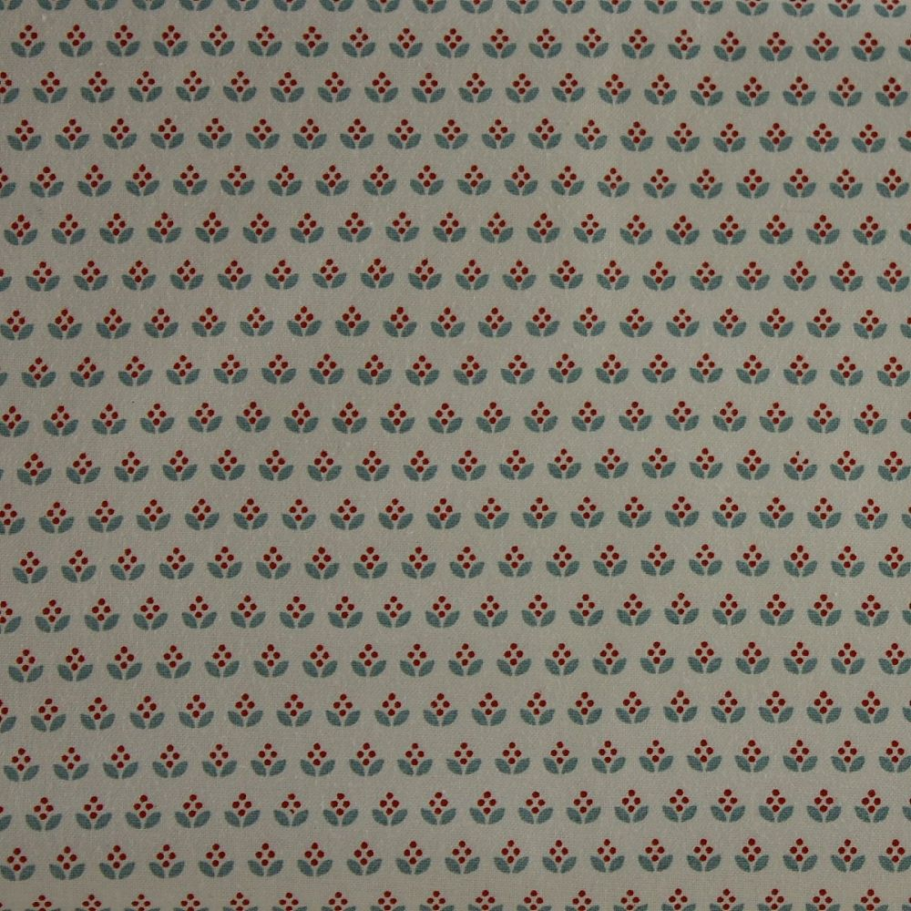 Rico Fabrics - Little Graphic Flowers on White (140cm wide fabric)