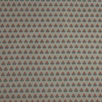 Rico Fabrics - Little Graphic Flowers on White (140cm wide fabric) Fat Quarter