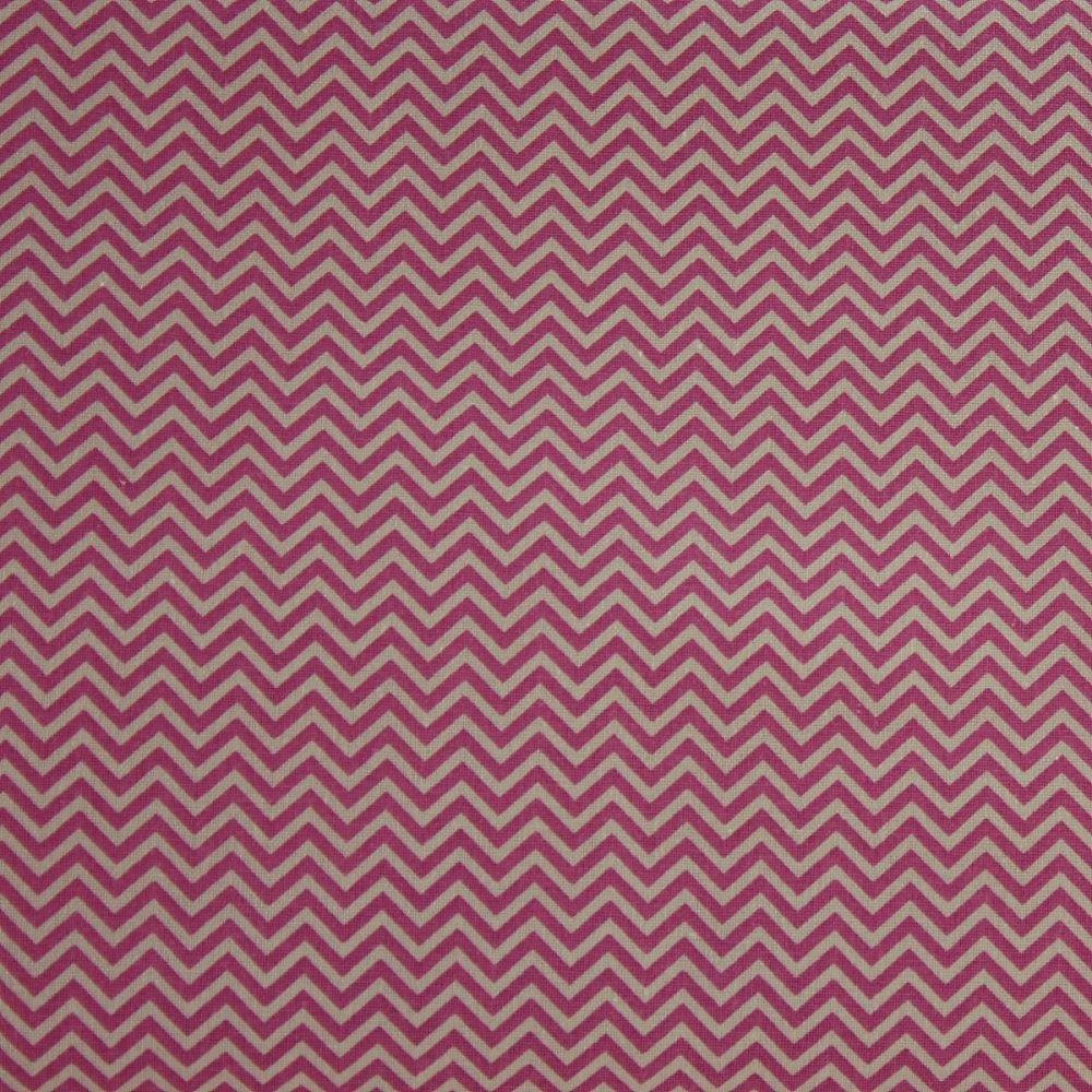 Rico Fabrics - Pink Zig Zag (160cm wide fabric)