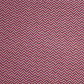 Rico Fabrics - Pink Zig Zag (160cm wide fabric) Fat Quarter