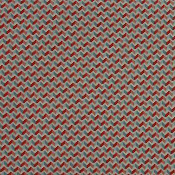 Rico Fabrics - Light Blue & Rose Zig Zag (140cm wide fabric) Fat Quarter