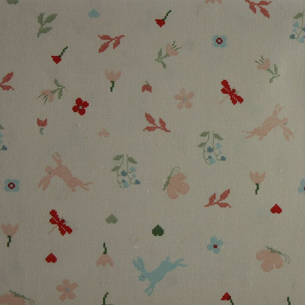Rico Fabrics - Meadow with Hares (140cm wide fabric)