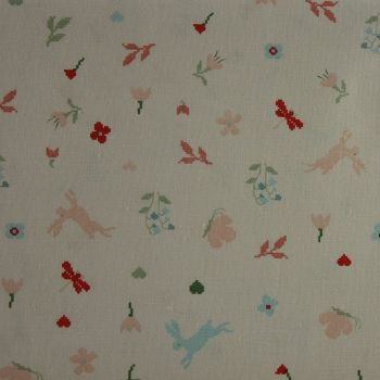 Rico Fabrics - Meadow with Hares (140cm wide fabric) Fat Quarter