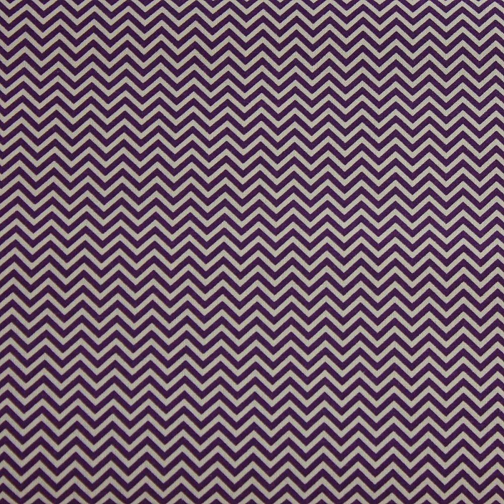 Rico Fabrics - Violet Zig Zag (160cm wide fabric)