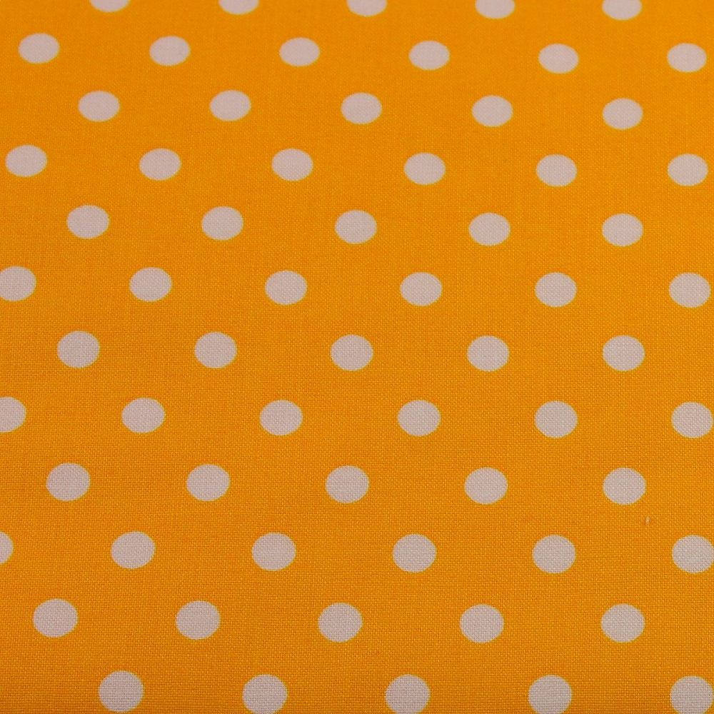 White Spots on Yellow (148cm wide fabric)