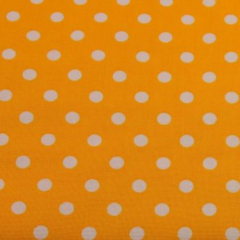 White Spots on Yellow (148cm wide fabric) (£9pm)