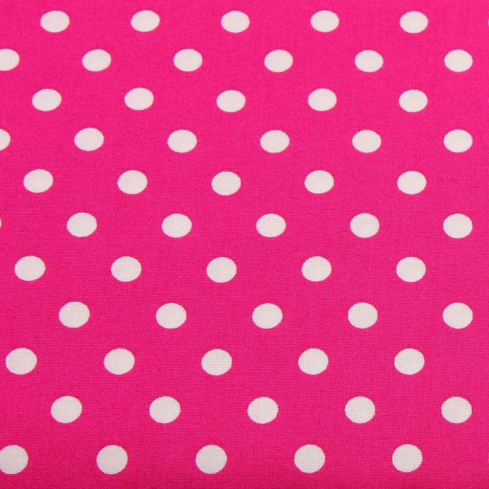 White Spots on Cerise (148cm wide fabric)