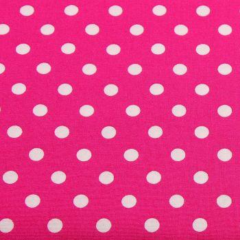White Spots on Cerise (148cm wide fabric) (£9pm)