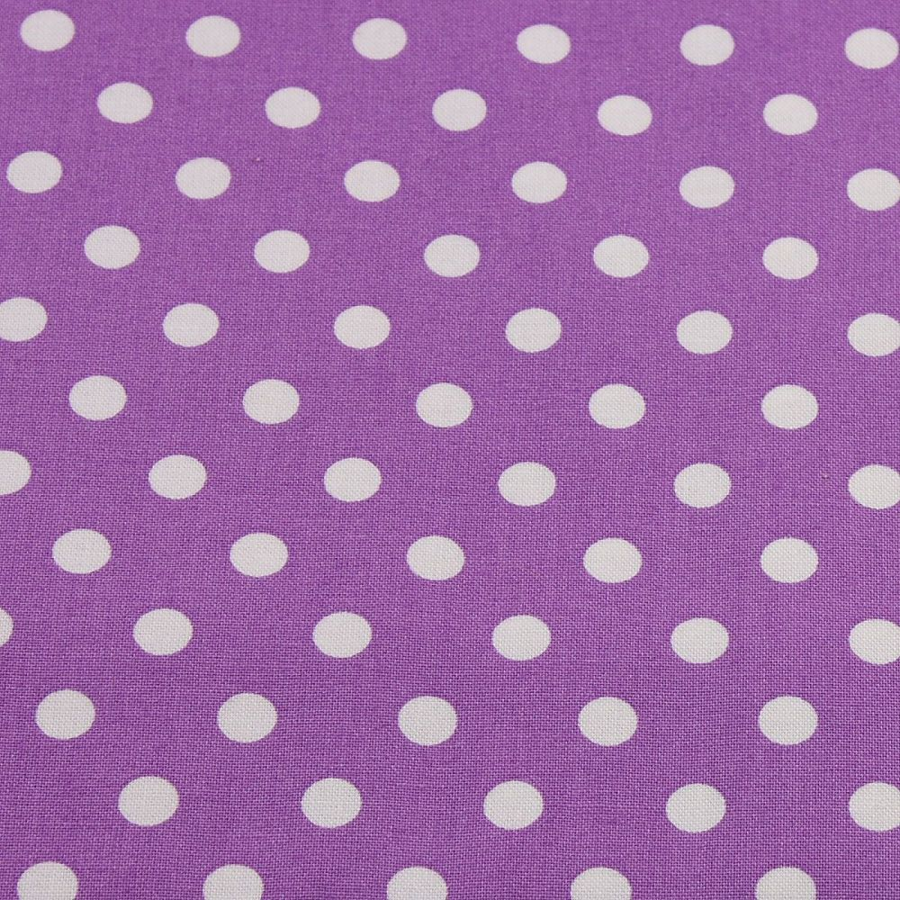 White Spots on Violet (148cm wide fabric)