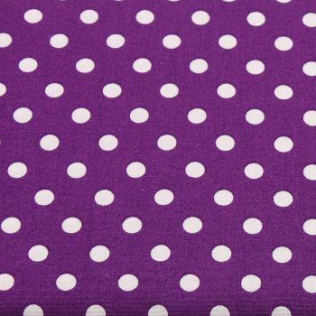 White Spots on Purple (148cm wide fabric) (£9pm)