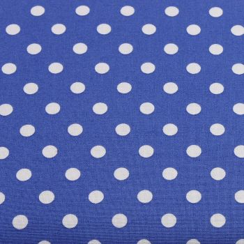 White Spots on Royal Blue (148cm wide fabric) (£9pm)