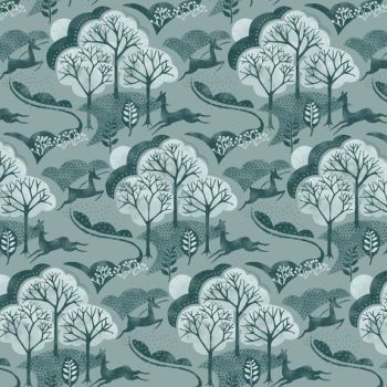 Makower - Into The Woods - Trees in Teal (£12pm)