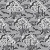 Makower - Into The Woods - Trees in Grey