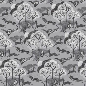 Makower - Into The Woods - Trees in Grey (£12pm)