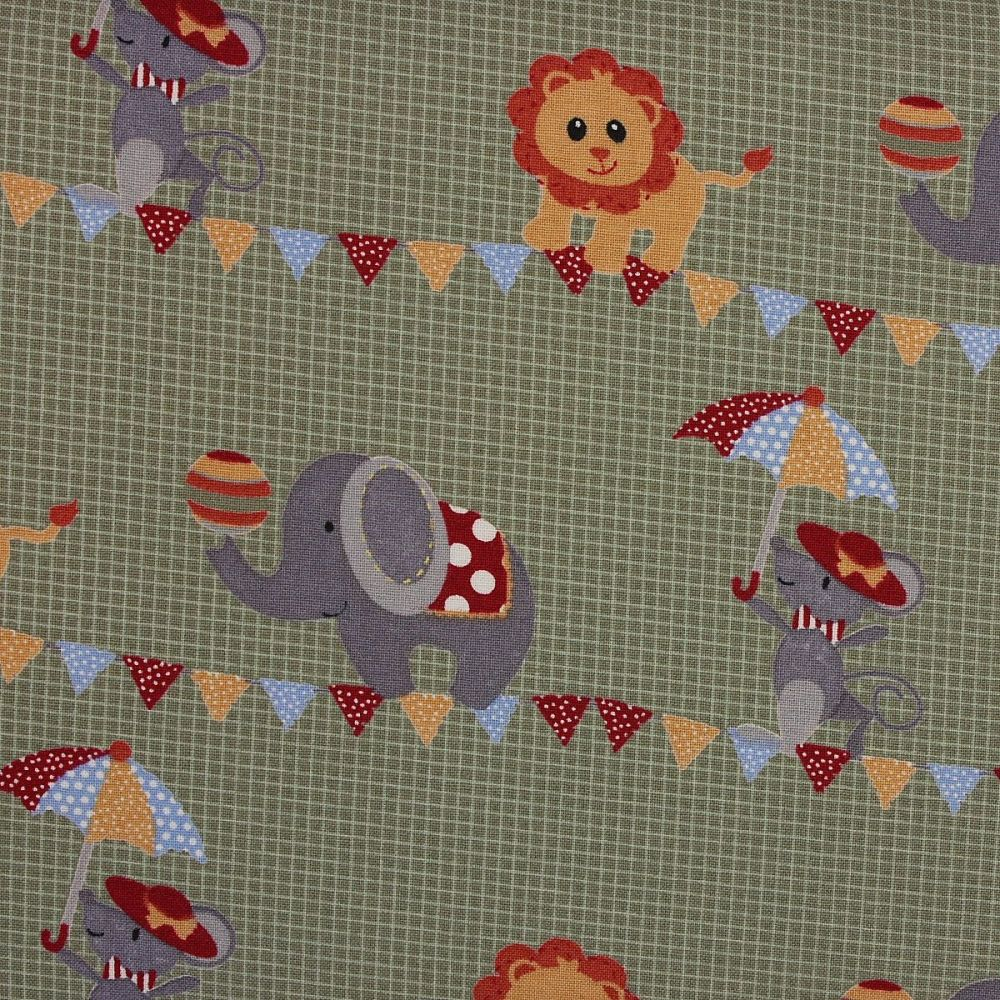Fabric Freedom - Circus - Elephants