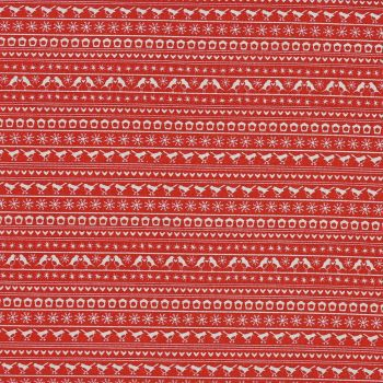 Fabric Freedom - Festive Friends - Scandi Red