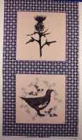 Highland Thistle & Grouse Fabric Cushion Quilting Panel
