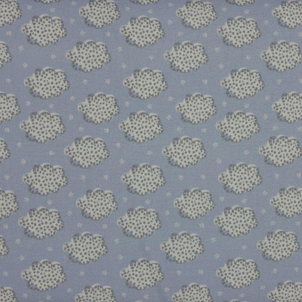 Indigo Fabrics - Clouds in Blue (150cm wide fabric)