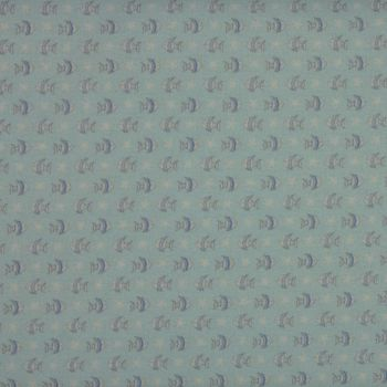 Baby Boom - Small Fish in Blue (150cm wide fabric) (£12pm)