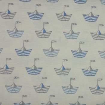 Baby Boom - Sail Boats in Blue (150cm wide fabric) (£12pm)