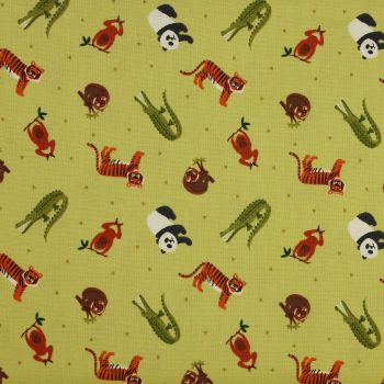 Lewis and Irene Small Things World Animals Asia Patchwork Quilting 100% Cotton Fabric (£12pm)