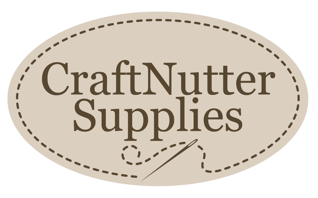 Craftnutter supplies oval logo with needle and thread