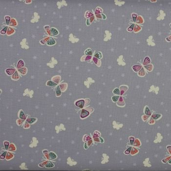 Glow in the Dark - Fairy Nights by Lewis and Irene - Butterflies on a light grey background (£12pm)