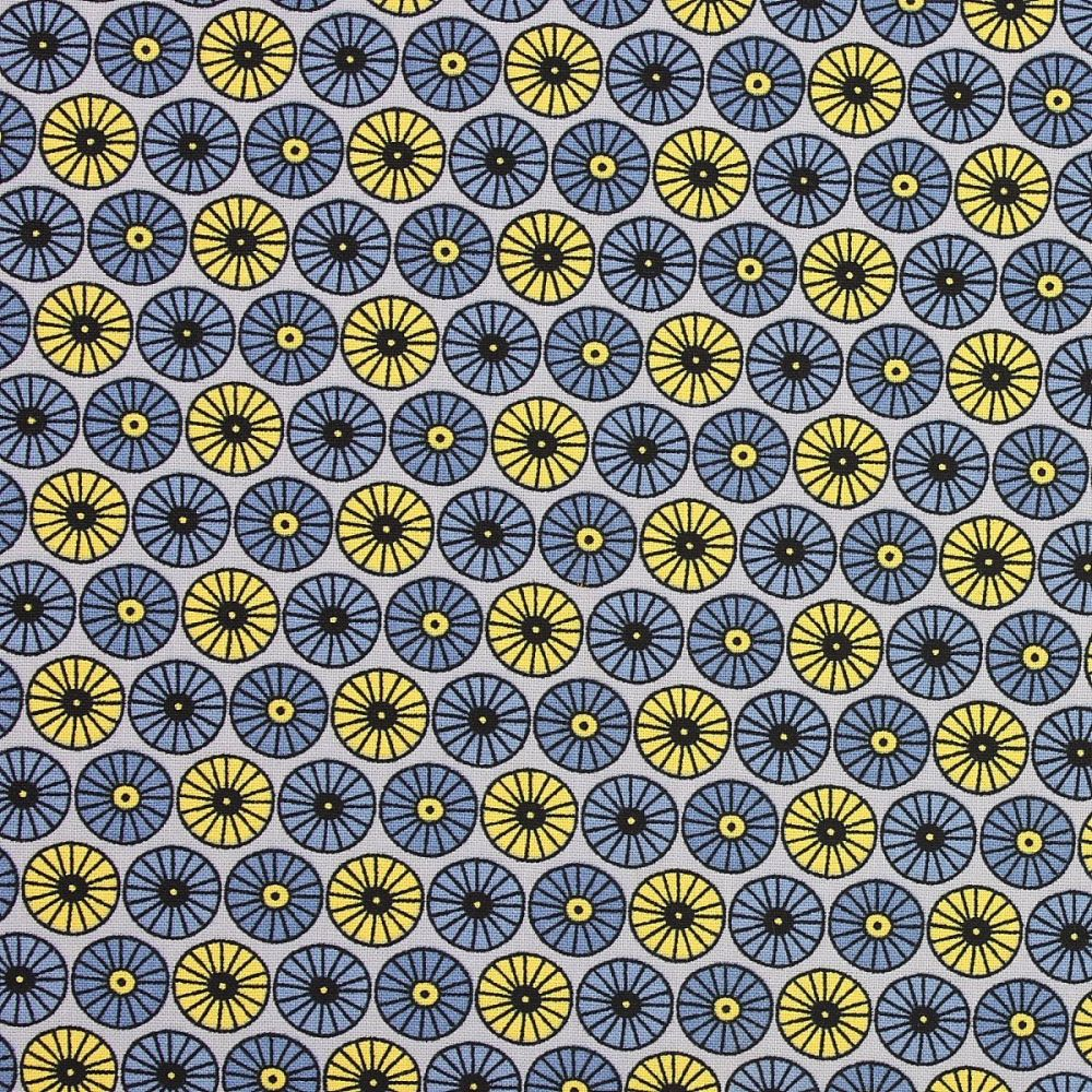 Scandi Flora by Fabric Freedom - Small floral pattern on a grey background