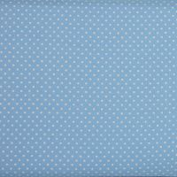 2mm White Spots on Sky Blue (148cm wide fabric) (£9pm)