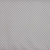 2mm White Spots on Grey (148cm wide fabric) (£9pm)