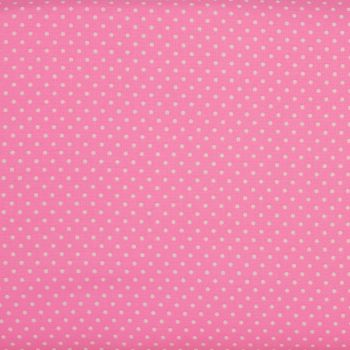 2mm White Spots on Candy Pink (148cm wide fabric) (£9pm)