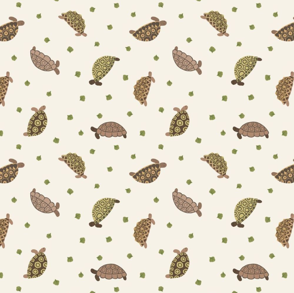 Lewis and Irene Small Things Pets - Tortoises - Patchwork Quilting 100% Cot