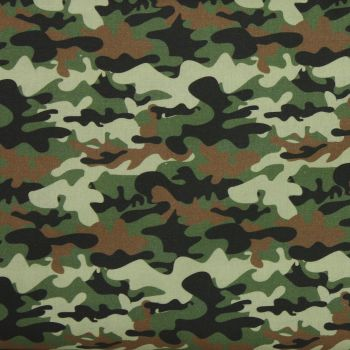 Swafing Traditional Camouflage extra wide fabric 85cm by 147cm remnant